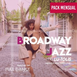 BROADWAY JAZZ - Lucila Tolis - ONLINE ZOOM MIÉRCOLES 20:00 HS - PACK MAYO