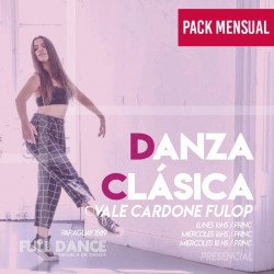 DANZA CLÁSICA - Vale Cardone Fulop - ONLINE ZOOM MIÉRCOLES 18:00 HS - PACK MAYO