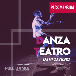 DANZA TEATRO - Daniel Daverio - ONLINE ZOOM MIÉRCOLES 20:00 HS -   PACK MAYO