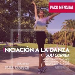 INICIACIÓN A LA DANZA  - Julieta Correa (3 a 5 años)  - ONLINE ZOOM MIÉRCOLES 16:30 HS -  PACK MAYO