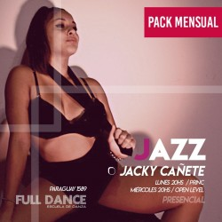 DANZA JAZZ - Jacky Cañete - ONLINE ZOOM MIERCOLES 20:00 HS - PACK MAYO