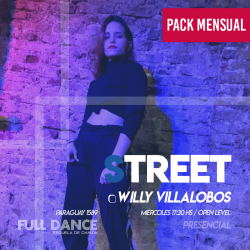 STREET - Willy Villalobos - ONLINE ZOOM MIÉRCOLES 17:30 HS - PACK MAYO