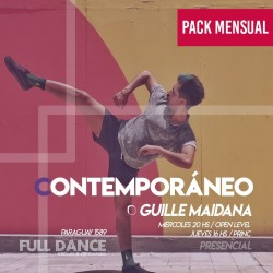 CONTEMPORÁNEO - Guille Maidana - ONLINE ZOOM MIÉRCOLES 20:00 HS -  PACK MAYO