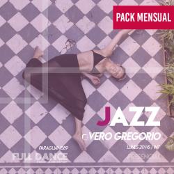 DANZA JAZZ - Vero Gregorio - ONLINE ZOOM LUNES 20:00 HS - PACK 10/17/31 de MAYO
