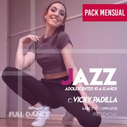 DANZA JAZZ  ADOLESCENTES (10 a 13 años) - Viqui Padilla - ONLINE ZOOM LUNES 16:00 HS -  PACK 10/17/31 de MAYO