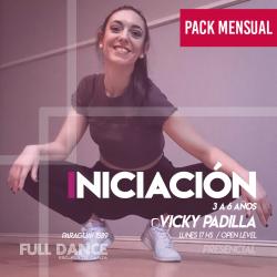 INICIACIÓN A LA DANZA  (3 a 6 años)  - Viqui Padilla - ONLINE ZOOM LUNES 17:00 HS - PACK 10/17/31 de MAYO
