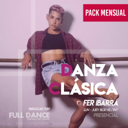 DANZA CLÁSICA - Fer Ibarra - ONLINE ZOOM JUEVES 18:30 HS -  PACK MAYO