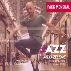 DANZA JAZZ - Milo Zeleme - ONLINE ZOOM JUEVES 20:00 HS -  PACK MAYO