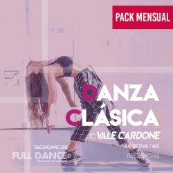 DANZA CLÁSICA - Vale Cardone Fulop - ONLINE ZOOM JUEVES 10:00 HS -  PACK MAYO
