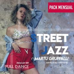 STREET JAZZ - Martu Gruppalli - ONLINE ZOOM JUEVES 20:00 HS -  PACK MAYO