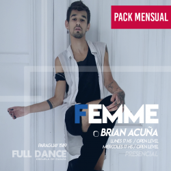FEMME - Brian Acuña - ONLINE ZOOM MIÉRCOLES 17:00 HS - PACK MAYO