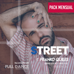 STREET JAZZ - Franco Quiles - ONLINE ZOOM VIERNES 11:30 HS - PACK MAYO