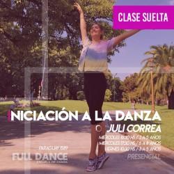 INICIACIÓN A LA DANZA  - Julieta Correa (3 a 5 años)  - ONLINE ZOOM MIÉRCOLES 16:30 HS -  05 DE MAYO