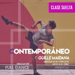 CONTEMPORÁNEO - Guille Maidana - ONLINE ZOOM JUEVES 16:00 HS -  06 DE MAYO