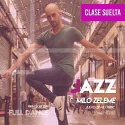 DANZA JAZZ - Milo Zeleme - ONLINE ZOOM JUEVES 20:00 HS -  06 DE MAYO