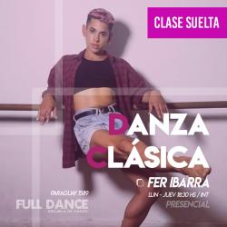 DANZA CLÁSICA - Fer Ibarra - ONLINE ZOOM JUEVES 18:30 HS -  06 DE MAYO