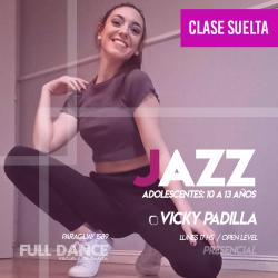 DANZA JAZZ  ADOLESCENTES (10 a 13 años) - Viqui Padilla - CLASE SUELTA -ONLINE ZOOM LUNES 17:00 HS -  10 DE MAYO