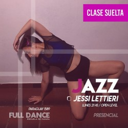DANZA JAZZ - Jessi Lettieri - CLASE SUELTA - ONLINE ZOOM LUNES 21:00 HS - 10 DE MAYO