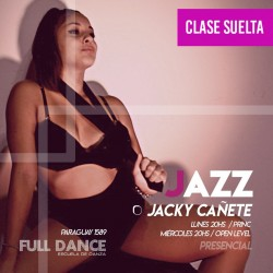 DANZA JAZZ - Jacky Cañete - CLASE SUELTA - ONLINE ZOOM LUNES 20:00 HS -  10 DE MAYO