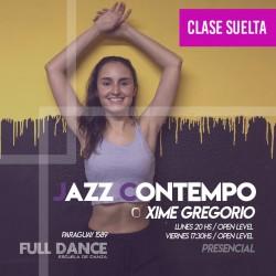 JAZZ CONTEMPORÁNEO - Xime Gregorio - CLASE SUELTA - ONLINE ZOOM LUNES 20:00hs - 10 DE MAYO
