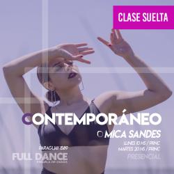 CONTEMPORÁNEO - Mica Sandes - CLASE SUELTA - ONLINE ZOOM LUNES 10:00hs -10 DE MAYO