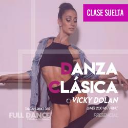 DANZA CLÁSICA - Vicky Dolan - CLASE SUELTA - ONLINE ZOOM LUNES 21:30 HS - 10 DE MAYO