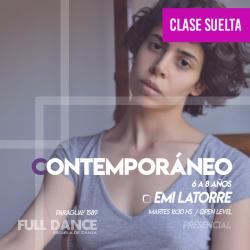 CONTEMPORÁNEO 6 a 8 años - Emilia Latorre - CLASE SUELTA ONLINE ZOOM MARTES 16:30 HS - 11 DE MAYO