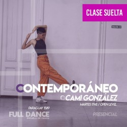 CONTEMPORÁNEO - Cami Gonzalez - CLASE SUELTA ONLINE ZOOM MARTES 17:00 HS - 11 DE MAYO