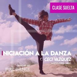 INICIACIÓN A LA DANZA - Ceci Vazquez - CLASE SUELTA ONLINE ZOOM MARTES 17:30 HS -  11 DE MAYO