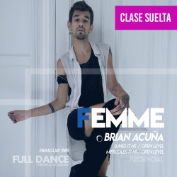 FEMME - Brian Acuña - ONLINE ZOOM MIÉRCOLES 17:00 HS - 05 DE MAYO