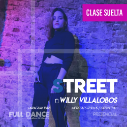 STREET - Willy Villalobos - ONLINE ZOOM MIÉRCOLES 17:30 HS - 05 DE MAYO