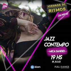 Jazz Contempo. Mica Sandes. 18/07 19hs. Jornada de Ritmos ON WKND