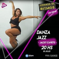 Danza Jazz. Jacky Cañete. 18/07 20hs. Jornada de Ritmos ON WKND