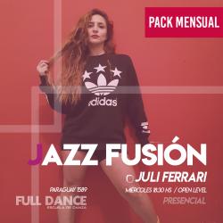 JAZZ FUSION - Juli Ferrari - ONLINE ZOOM MIÉRCOLES 18:30 HS - PACK MAYO