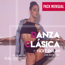 DANZA CLÁSICA - Vicky Dolan - ONLINE ZOOM LUNES 21:30 HS - PACK 10/17/31 de MAYO