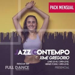 JAZZ CONTEMPORÁNEO - Xime Gregorio - ONLINE ZOOM LUNES 20:00hs - PACK 10/17/31 de MAYO