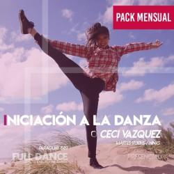 INICIACIÓN A LA DANZA - Ceci Vazquez - ONLINE ZOOM MARTES 17:30 HS -  PACK MAYO 11/18