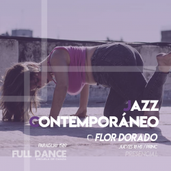 Jazz Contemporáneo - Flor Dorado -  Presencial JUEVES 18:00hs - PACK AGOSTO