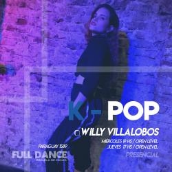 K-POP - Willy Villalobos - Presencial JUEVES 17:00 HS -  PACK AGOSTO