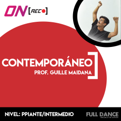 Contemporáneo. Guille Maidana. Nivel: Principiante / Intermedio